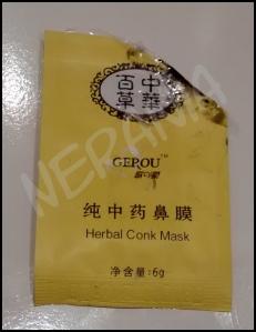 Gerou: Herbal Conk Mask (mascarilla negra para la nariz)